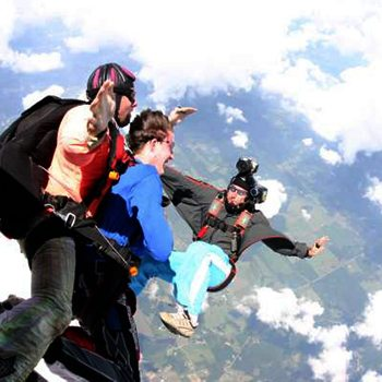 Video of Tandem Skydivers