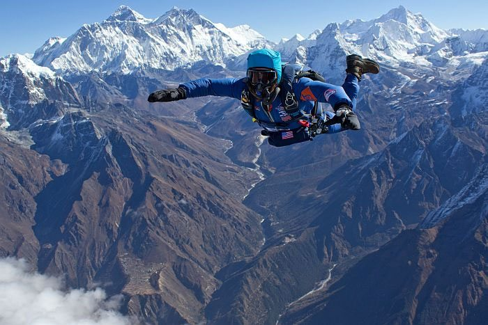 Skydiving at Extreme Heights in the Himalayas