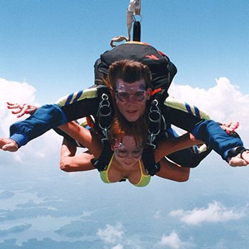 Tandem Skydiving in Summer