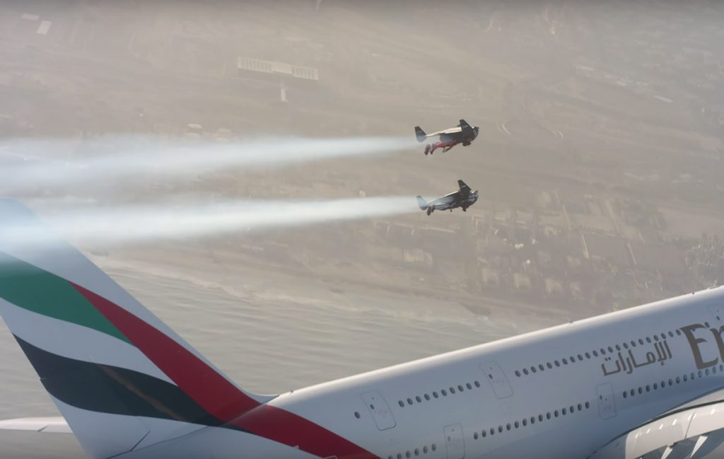 Jetmen Dubai and the Emirates Airbus