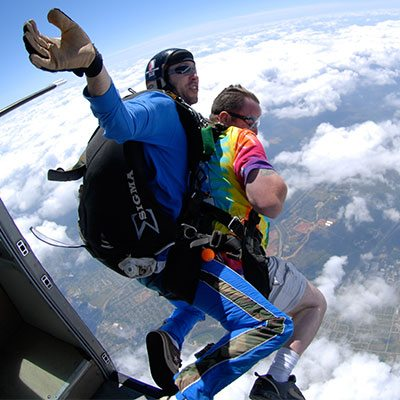Tandem Skydiving: Exiting the Airplane