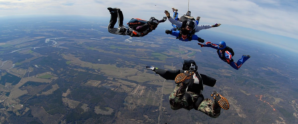 Charlotte, North Carolina Tandem Progression Skydiving Training