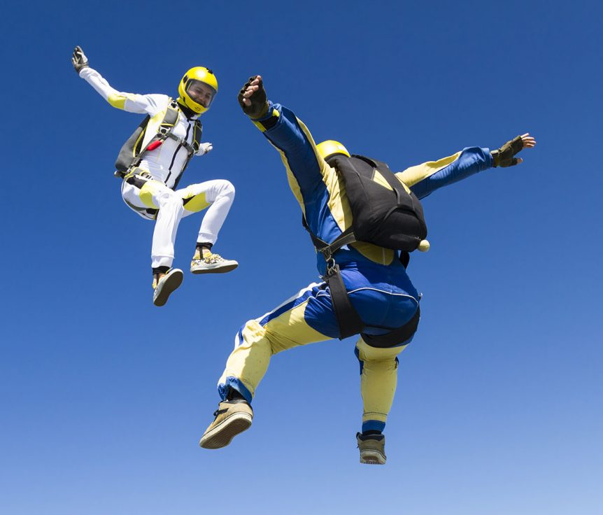 Skydivers over Colordado