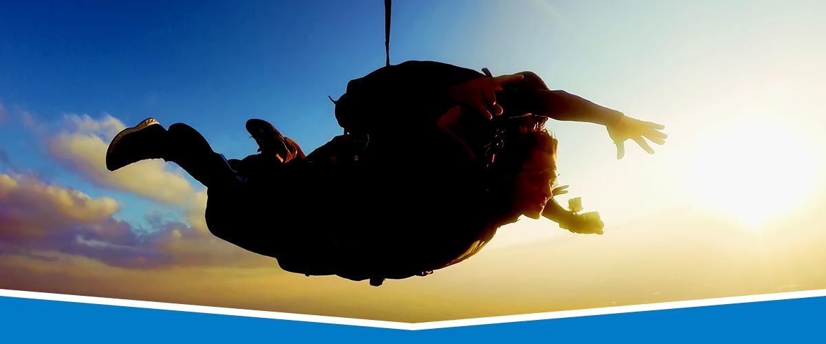 Tandem Skydiving at Sunset