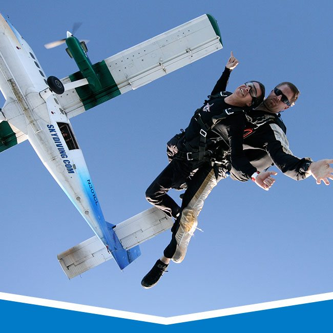 Tandem Progression Skydiving Training in Los Angeles, California